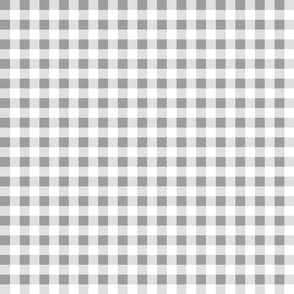 gingham gray and white small