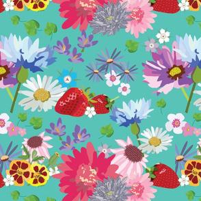 Mid Summer Flower & Strawberry Fields