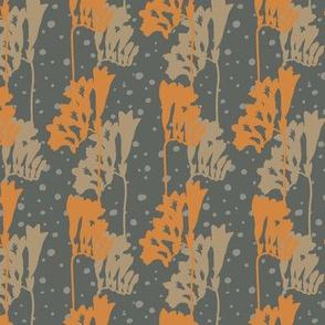 Freesia Silhouette-M-Orange & Sage