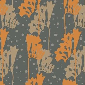 Freesia Silhouette-L-Orange & Sage