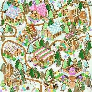 Gingerbread Village White