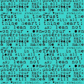 trust in the Lord aqua