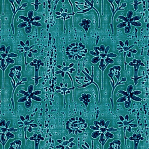 lazy daisies teal