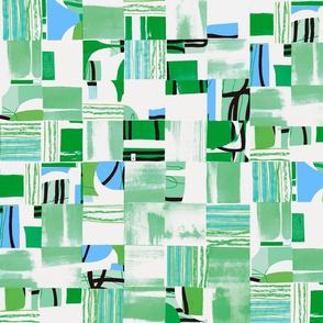 Bauhaus Collage - Green