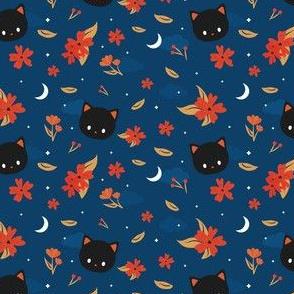 midnight black cat pattern