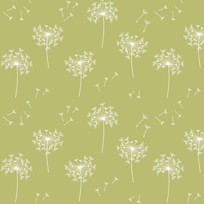 dandelions {2} for mom green banana reversed earthy tones
