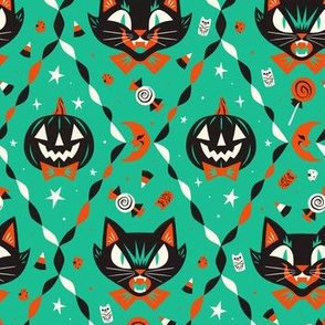 Halloween Party (Teal - Large)