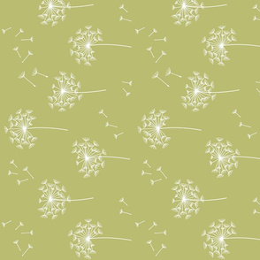 dandelions {2} for mom green banana reversed earthy tones horizontal