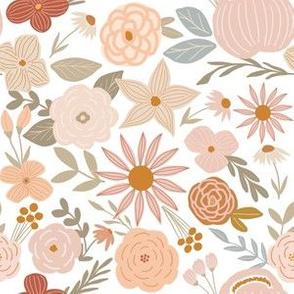 terra firma earth tone florals - small scale