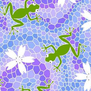 midsommer frogs flowers D cleaner lines spoonfloer small file high pixels