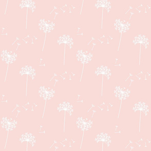 dandelions {1 smaller} blushing pink reversed earthy tones 25% smaller scale