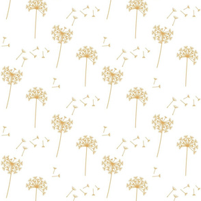 dandelions {1 smaller} golden earthy tones 25% smaller scale