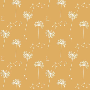 dandelions {1 smaller} golden reversed earthy tones 25% smaller scale