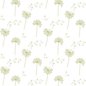dandelions {1 smaller} green banana earthy tones 25% smaller scale