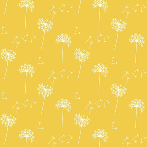 dandelions {1 smaller} lemon zest reversed earthy tones 25% smaller scale