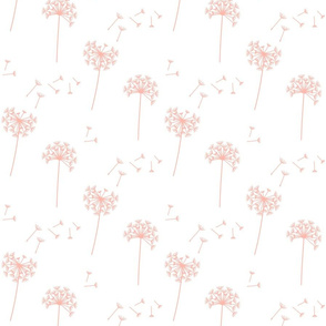 dandelions {1 smaller} peachy pink earthy tones 25% smaller scale