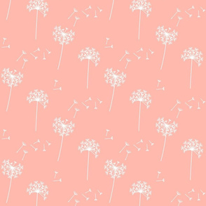 dandelions {1 smaller} peachy pink reversed earthy tones 25% smaller scale