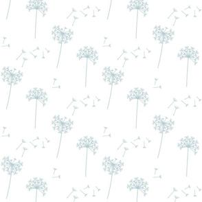 dandelions {1 smaller} starlight blue earthy tones 25% smaller scale