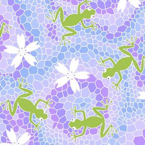 midsommer frogs flowers D cleaner lines spoonfloer zb 6300pixels offset b
