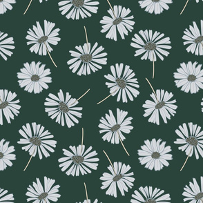 Daisy flower vector pattern illustration floral background