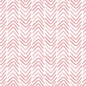 pink and white brush stroke herringbone