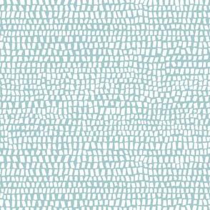 Geo rectangle pattern white on Malibu blue