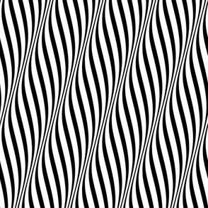 op-art waves monochrome