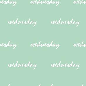 mint green wednesday