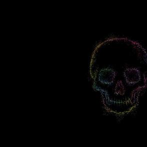 big neon skull