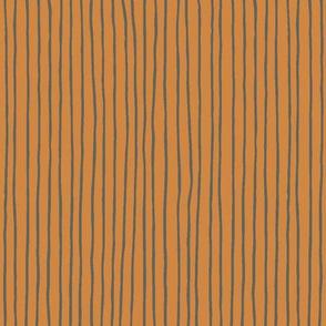 Freesia Stripe-Orange & Sage