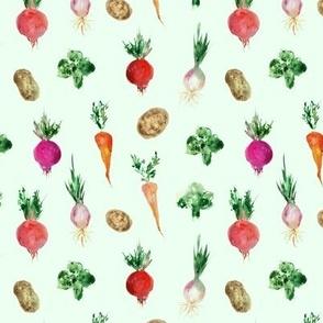 veggies from grandmother's garden - watercolor vegetables p294