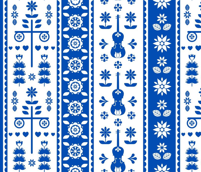 Midsummer festival - folklore pattern