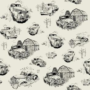 Toile of Vintage Trucks