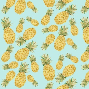Pineapple Party - Light Blue