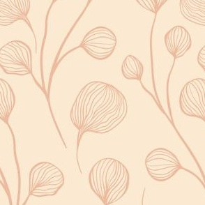 Cotton Flowers on Beige