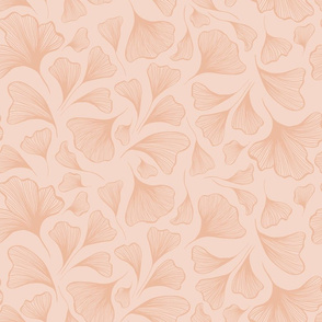 Pastel Light Line Art Abstract Natural Vector Pattern