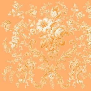 Faded Rococo Roses  citrus 2