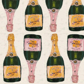 yellow and rose champagne bottles - half brick repeat