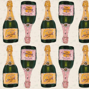 yellow and rose champagne bottles - medium size
