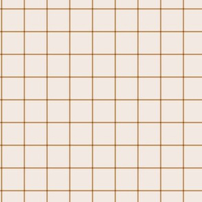 The grid minimal checkered tiles design Scandinavian retro strokes off white cinnamon