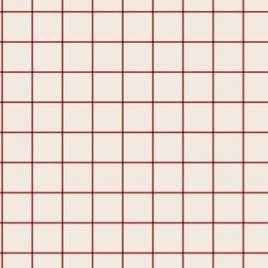 The grid minimal checkered tiles design Scandinavian retro strokes off white pale stone red maroon