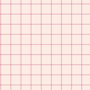 The grid minimal checkered tiles design Scandinavian retro strokes off white pale pink