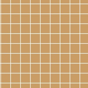 The grid minimal checkered tiles design Scandinavian retro strokes mustard ochre yellow white