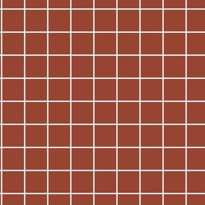 The grid minimal checkered tiles design Scandinavian retro strokes stone red maroon white