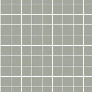 The grid minimal checkered tiles design Scandinavian retro strokes eucalyptus green gray