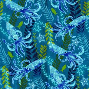 Sapphire Squid (Medium Scale)