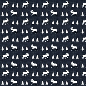 "3/4"" moose trot // midnight linen"