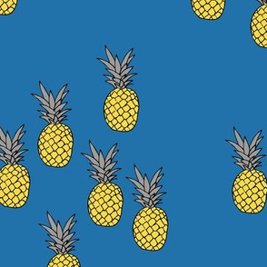 Pineapple garden irregular pineapples fruit for summer classic blue yellow boys