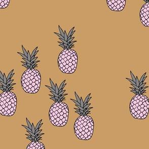 Pineapple garden irregular pineapples fruit for summer classic cinnamon pink gray