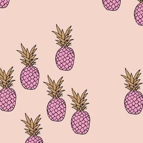 Pineapple garden irregular pineapples fruit for summer soft pale pink cinnamon girls